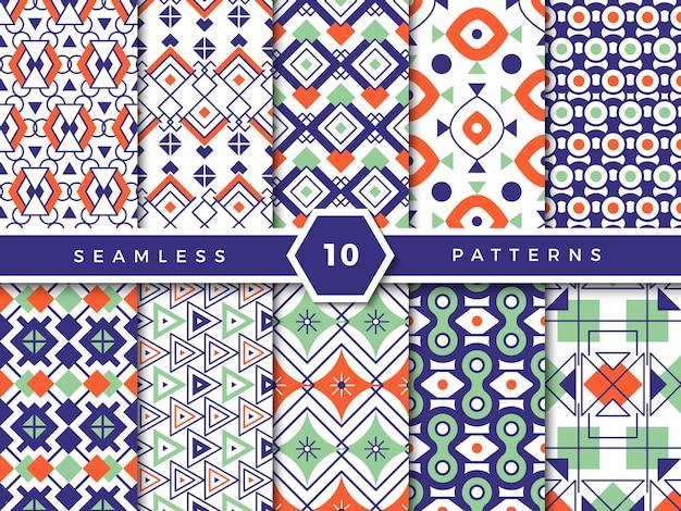 Decoratief patroon. abstracte geometrische vormen elegante lichte rechthoekige vierkante en cirkelvormen voor naadloze textielontwerpprojecten.