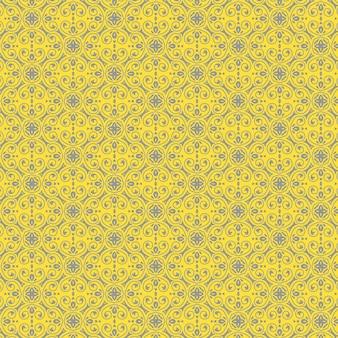 Decoratief patroon in gele en grijze kleuren
