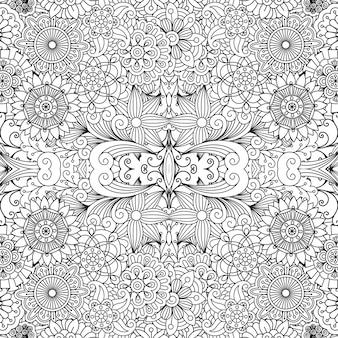 Decoratief patroon met bloemen en bladeren