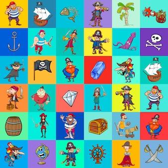 Decoratief patroonontwerp met piraat