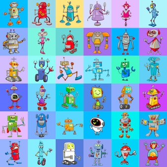 Decoratief patroonontwerp met robots