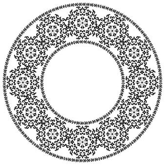 Decoratief rond ornament rond damastpatroon met plaats voor tekst bloemenkader