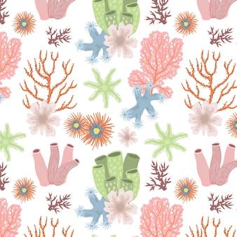 Decoratief schattig koraalpatroon