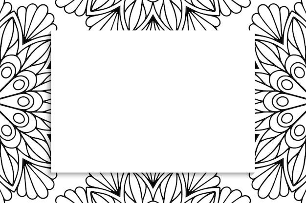 Decoratief siermandalapatroon met copyspace.