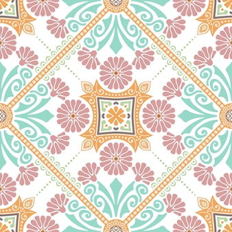 Decoratief tegelpatroonontwerp. vector illustratie.