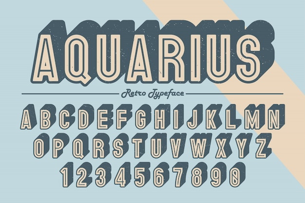 Decoratief vector vintage retro lettertype, lettertype, lettertype.