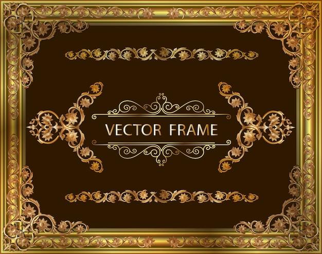 Decoratief vintage fotolijst en rand