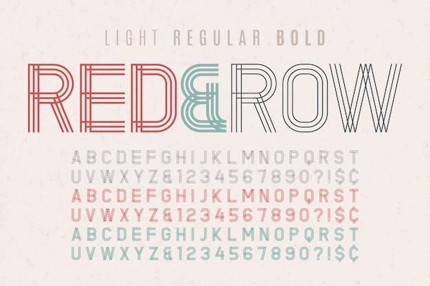 Decoratief vintage lettertype 3 in 1. lettertype, lettertype, typografie d