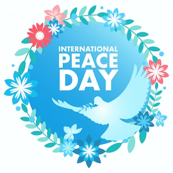 Decoratief vredessymbool voor internationale dag van de vrede