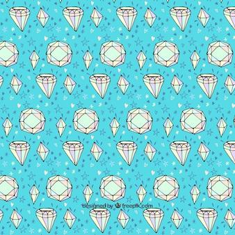 Decoratieve achtergrond met de hand getekende diamanten