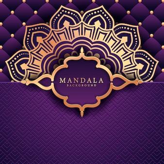Decoratieve achtergrond met een elegante luxe mandala design
