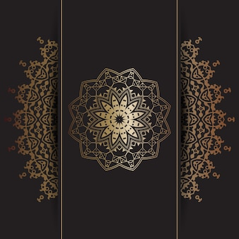 Decoratieve achtergrond met gouden mandala ontwerp