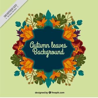 Decoratieve achtergrond met herfstbladeren