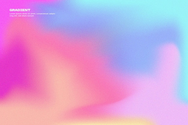 Decoratieve achtergrond met holografische gradiëntkleuren en korrelige textuur