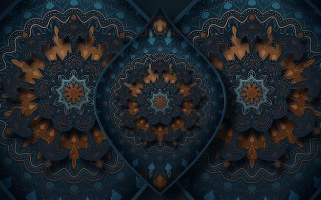 Decoratieve achtergrond met sierelementen in oosterse stijl.