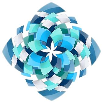 Decoratieve achtergrond met spiraalvormig vortex-effect