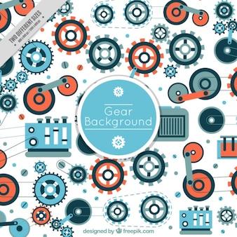 Decoratieve achtergrond van assemblage machines