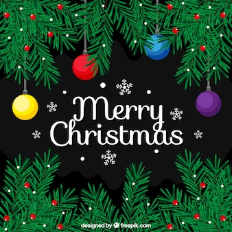 Decoratieve achtergrond van kerst takken