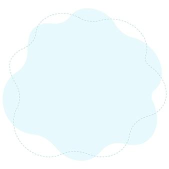 Decoratieve achtergrond vorm blauw voor concept. vector illustratie