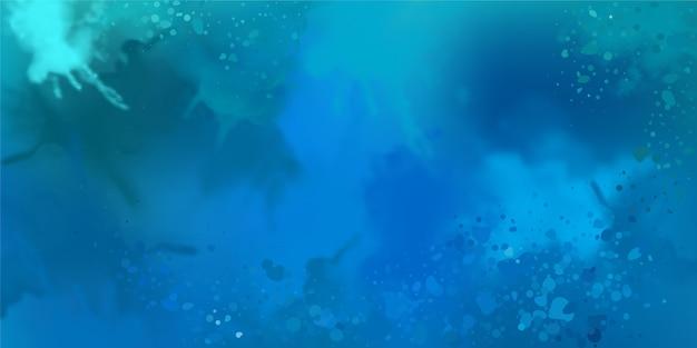Decoratieve blauwe aquarel achtergrond met schilderij textuur