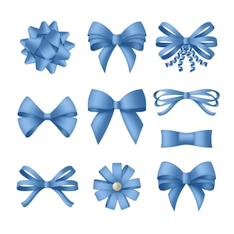Decoratieve blauwe boog met linten.