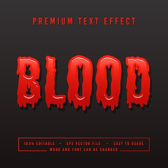Decoratieve bloed lettertype