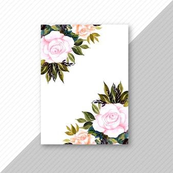 Decoratieve bloem bruiloft uitnodigingskaart brochure