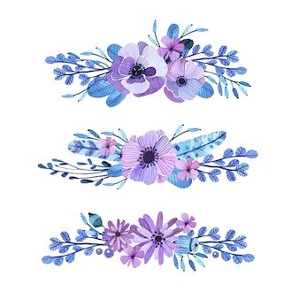 Decoratieve bloemen elementen