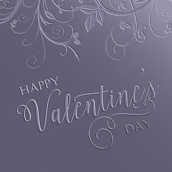 Decoratieve bloemen valentijnsdag achtergrond