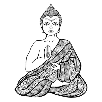 Decoratieve boeddha schets