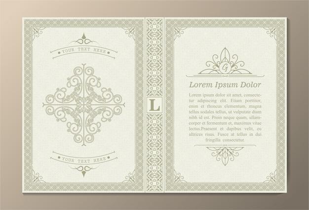 Decoratieve boekomslag ontwerp