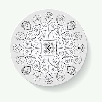 Decoratieve borden voor interieurontwerp leeg porseleinen bord mock-up ontwerp