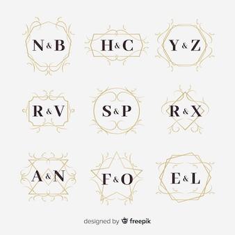 Decoratieve bruiloft monogram collectie