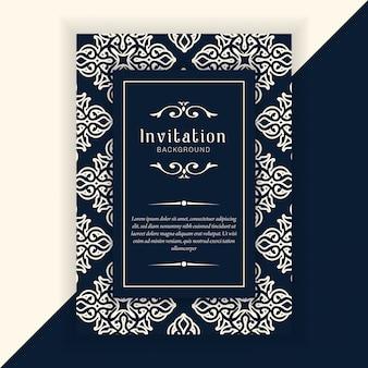Decoratieve bruiloft uitnodiging sjabloon
