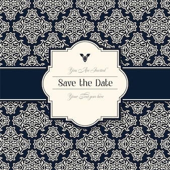 Decoratieve bruiloft uitnodigingskaarten