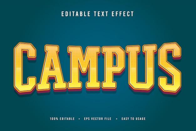 Decoratieve campus lettertype