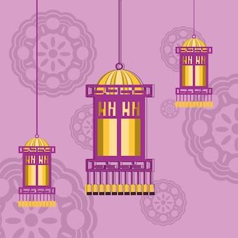 Decoratieve chinese lantaarns