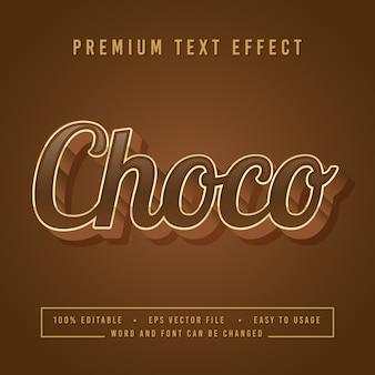 Decoratieve choco font