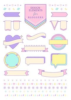 Decoratieve collectie voor bloggers