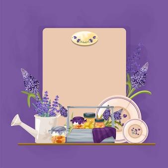 Decoratieve composities in provance-stijl met lavendel