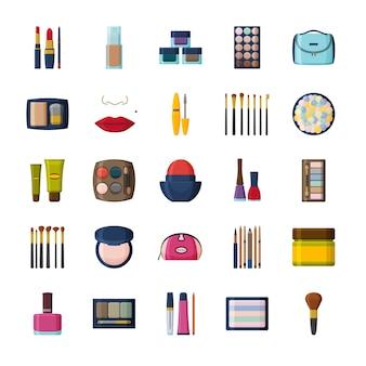 Decoratieve cosmetica voor gezicht en beautycase