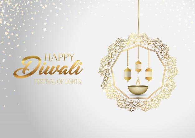 Decoratieve diwali-achtergrond