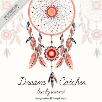 Decoratieve dreamcatcher achtergrond