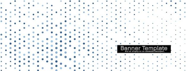 Decoratieve elegante halftone ontwerp banner sjabloon vector