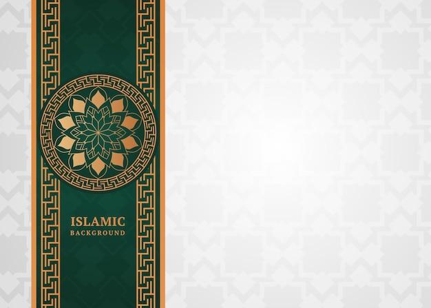 Decoratieve elegante islamitische achtergrond met rand