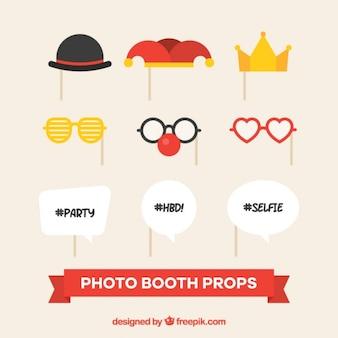 Decoratieve elementen voor partij photo booth