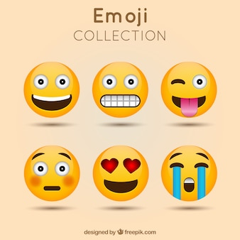 Decoratieve emoji collectie