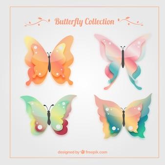 Decoratieve en sier vlinders pakken