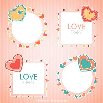 Decoratieve fotolijsten met hartjes