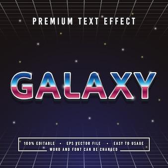 Decoratieve galaxy-lettertype